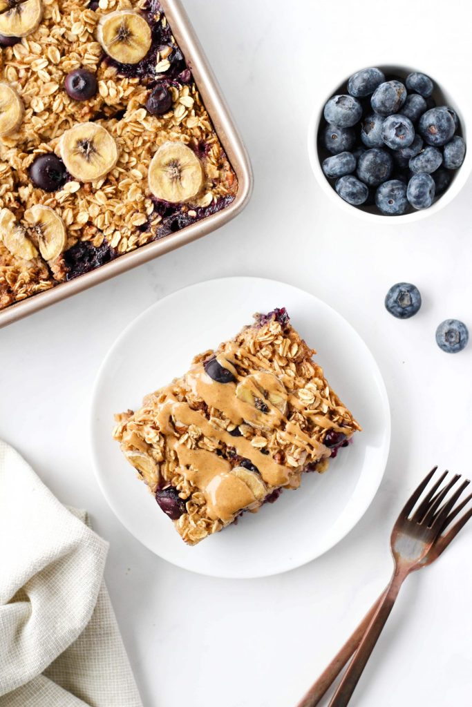 There's nothing like starting your day with a warm, cozy bowl of baked oatmeal. This hearty yet healthy vegan baked oatmeal is tasty, easy to make and perfect for meal prep. And you can customize it with whatever fruit and nuts you have on hand!