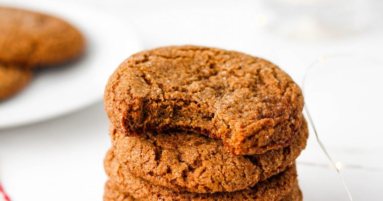 Healthy Ginger Molasses Cookies