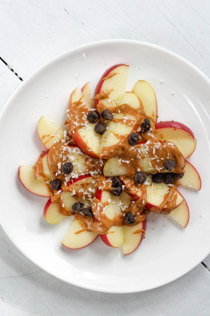 We know that eating more plants is good for our health. So why not try to do so at snack time? This post contains 8 of this Registered Dietitian's favourite plant based snacks that will nourish AND satisfy you! First up: Apple Nachos!