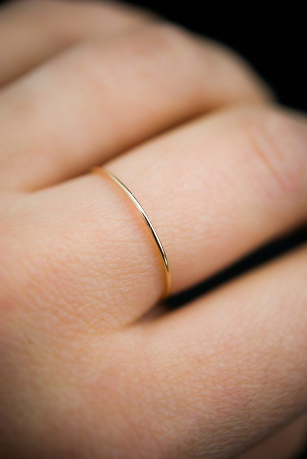 gold ultra thin ring - smooth finish