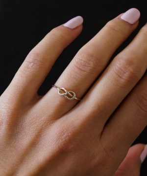 Silver Thick Infinity Knot RIng