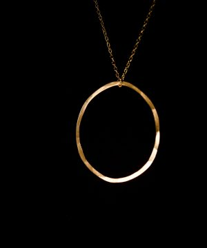 Large Gold Circle Necklace