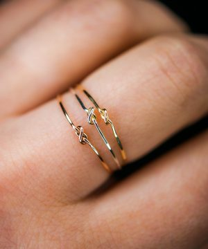 thin closed knot rings-2