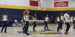 """Texas Wesleyan performs """"Can't Stop That Feeling"""" by Justin Timberlake at Midnight Madness. Photo by Hannah Onder"""