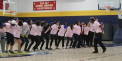 Ram Squad performs a dance at Midnight Madness. Photo by Hannah Onder