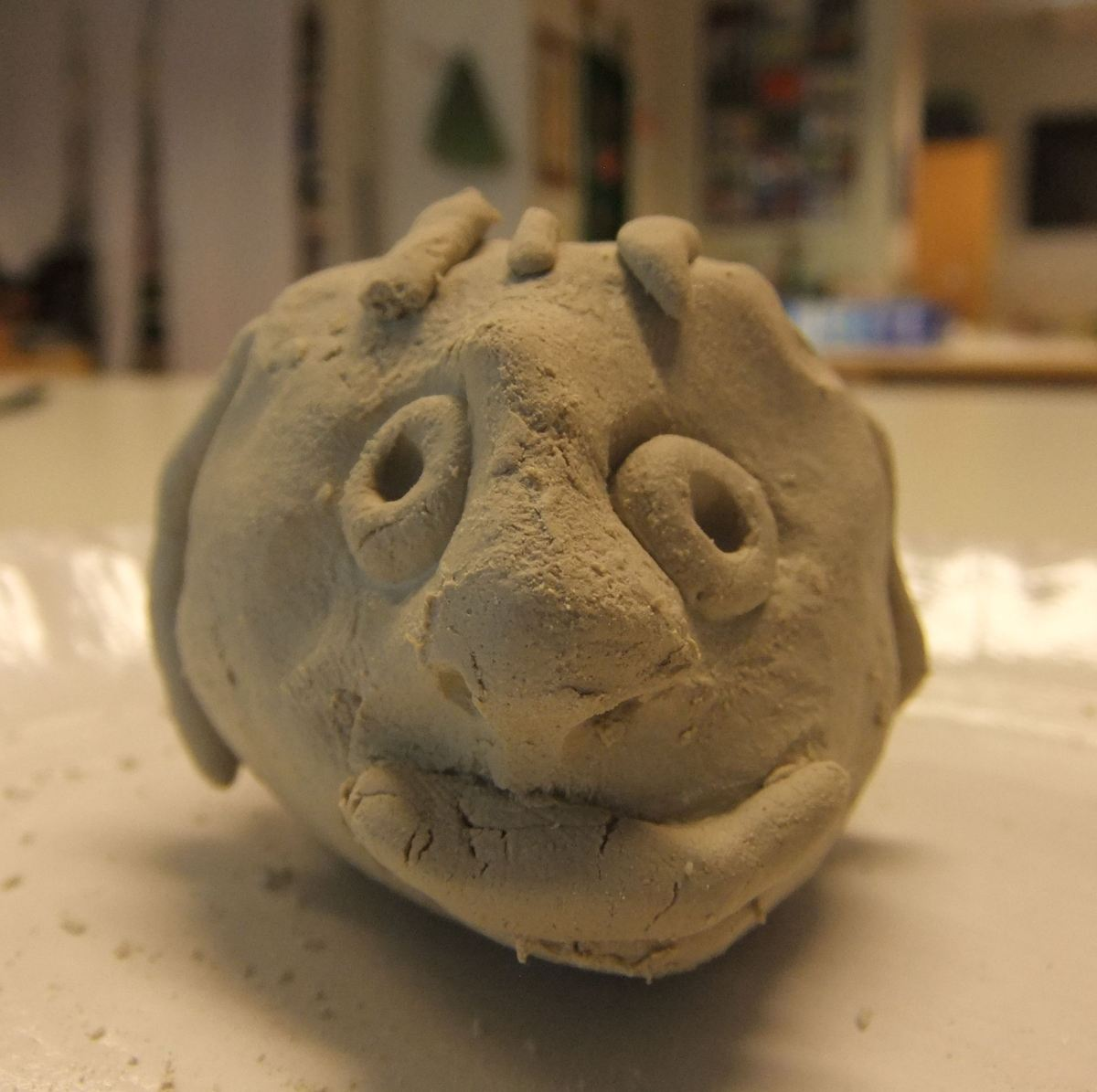 Making Faces Part Ii Clay Sculpture Heads June 2012