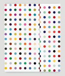 Damien Hirst, Chloramphenicol-Acetyltransferase, 1996, household gloss paint on canvas