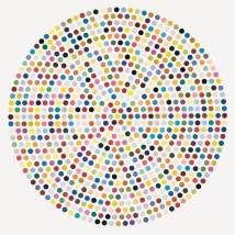 Damien Hirst, Zirconyl Chloride, 2008, household gloss on canvas