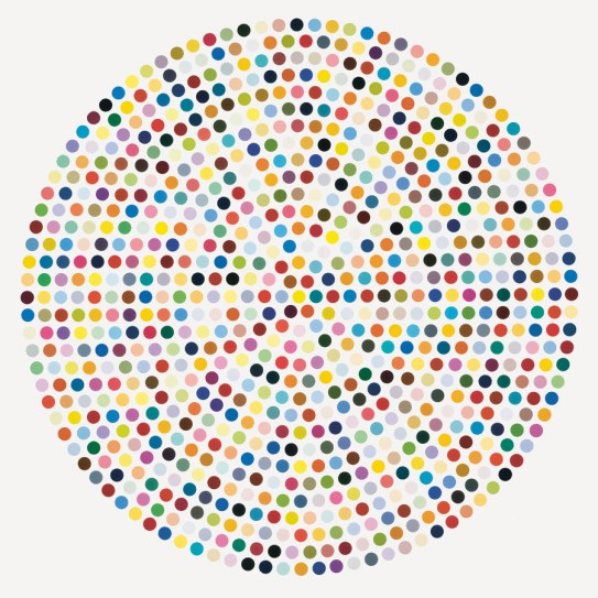 Damien Hirst, Zirconyl Chloride, 2008, household gloss on canvas
