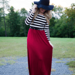 Fall Striped Maxi