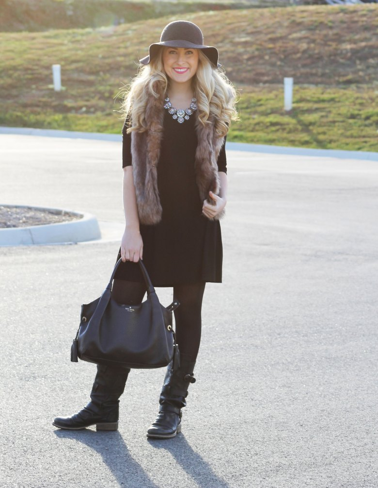black outfit with fur