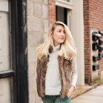 Turtleneck Sweater + Metallic Oxfords