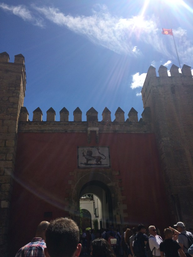 Entrance to the Royal Alcazar, built by the Arabs in Spain and later used by Isabel and Fernando