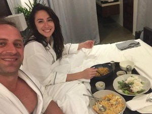 Room service in robes
