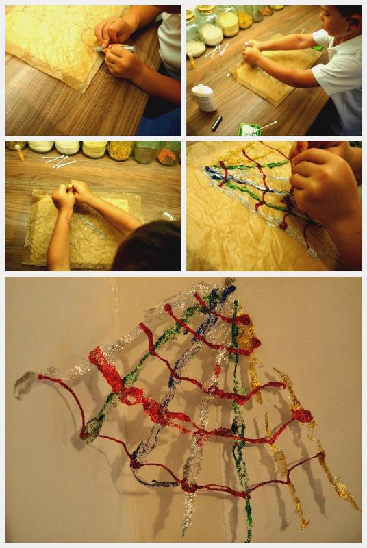 Halloween Spider Web Craft