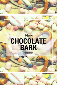 Being Vegan or Dairy Free doesn't mean that you or your children have to miss out on pretty chocolate Easter treats, just like this colourful chocolate bark