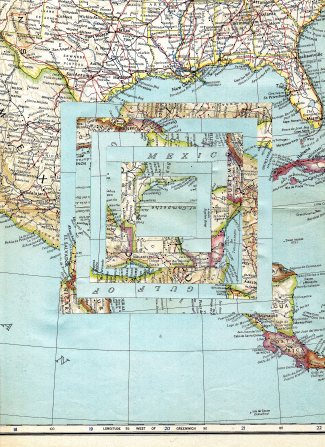 Vintage Map Glitch Collage 6