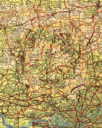 Vintage Map Maze 6