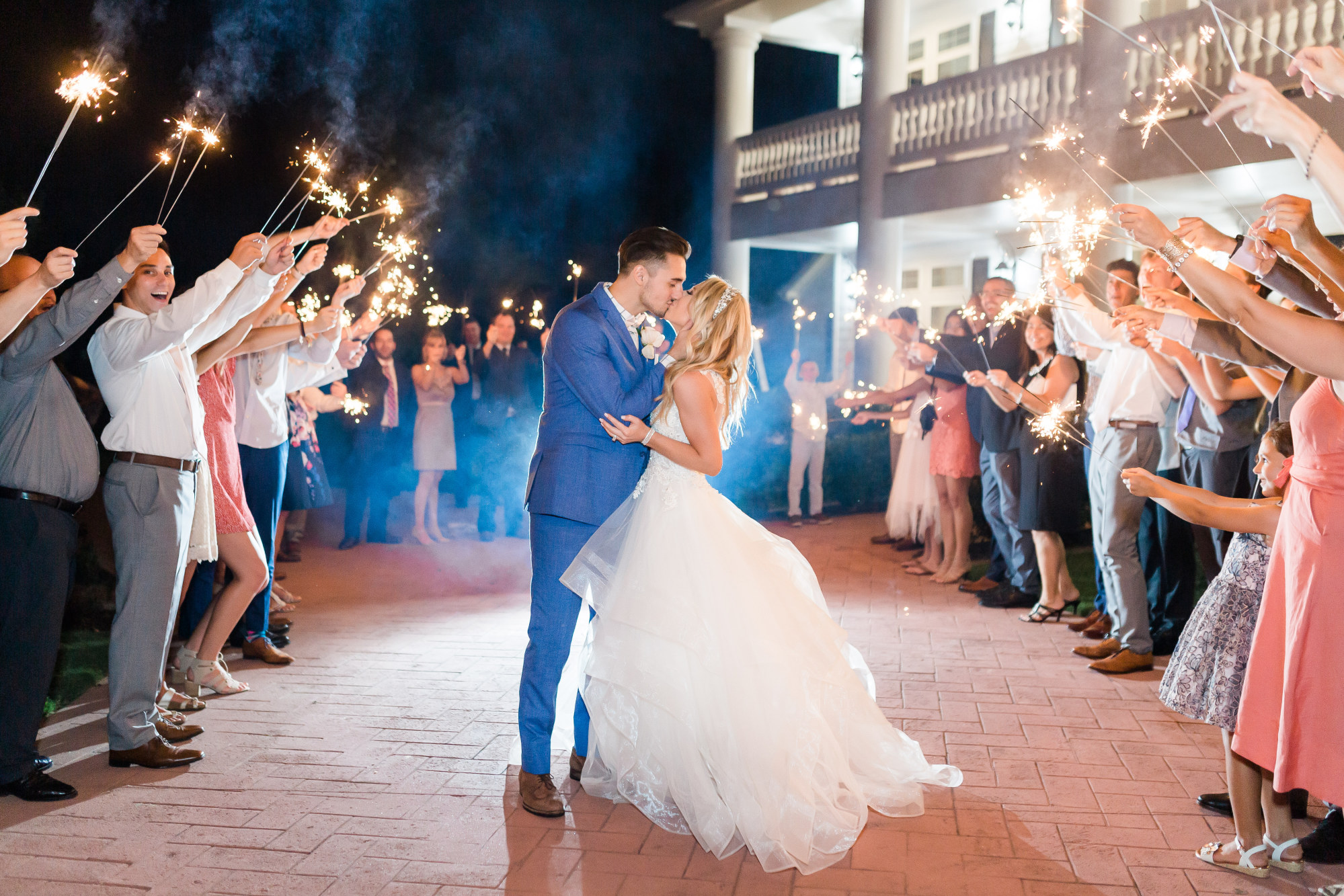 Hannah Way Photography - Dallas wedding photographer - luxury weddings - luxury wedding photographer - dfw wedding photographer - best wedding photographer - Dallas best wedding photographer - the springs - Rockwall manor - sparkler exit