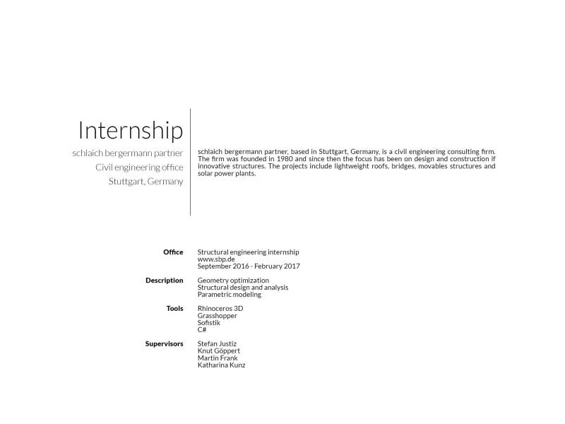 Internship sclaich bergermann partner - Description