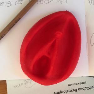 Übungsmodell aus Silikon für die Yonimassage