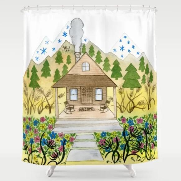 Welcome Cabin Shower Curtain
