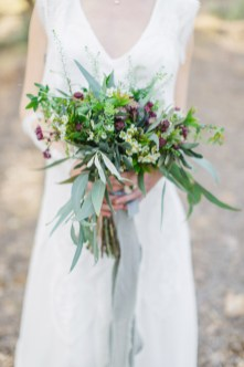 Bridal flower bouquet styled and photographed on the inspiration wedding session in Athens.