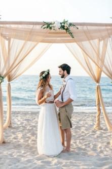 Boho beach wedding day in Crete