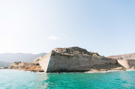 The island of Spinalongs, Crete, famous for it's unique history and a background to our wedding photos.