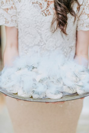 Beautiful wedding in Crete favors held on a tray.