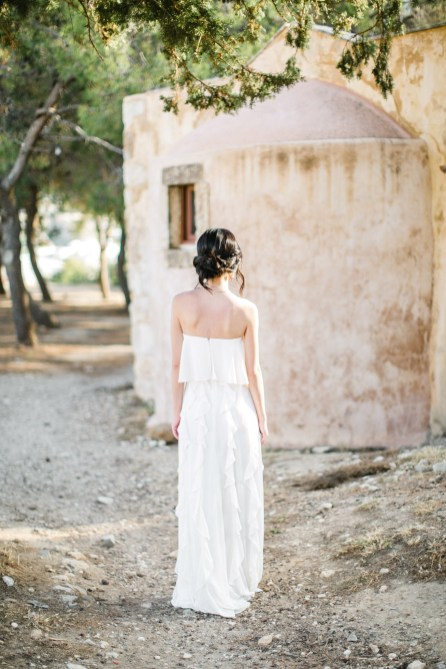 elopement session in greek islands