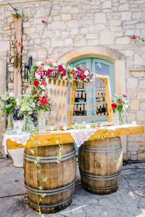 Stunning destination wedding decoration and flowers in Agreco farm, Crete.