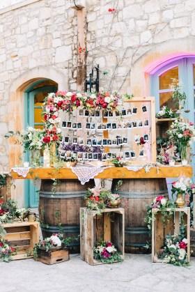 Stunning destination wedding decoration and flowers in Agreco farm, Crete.