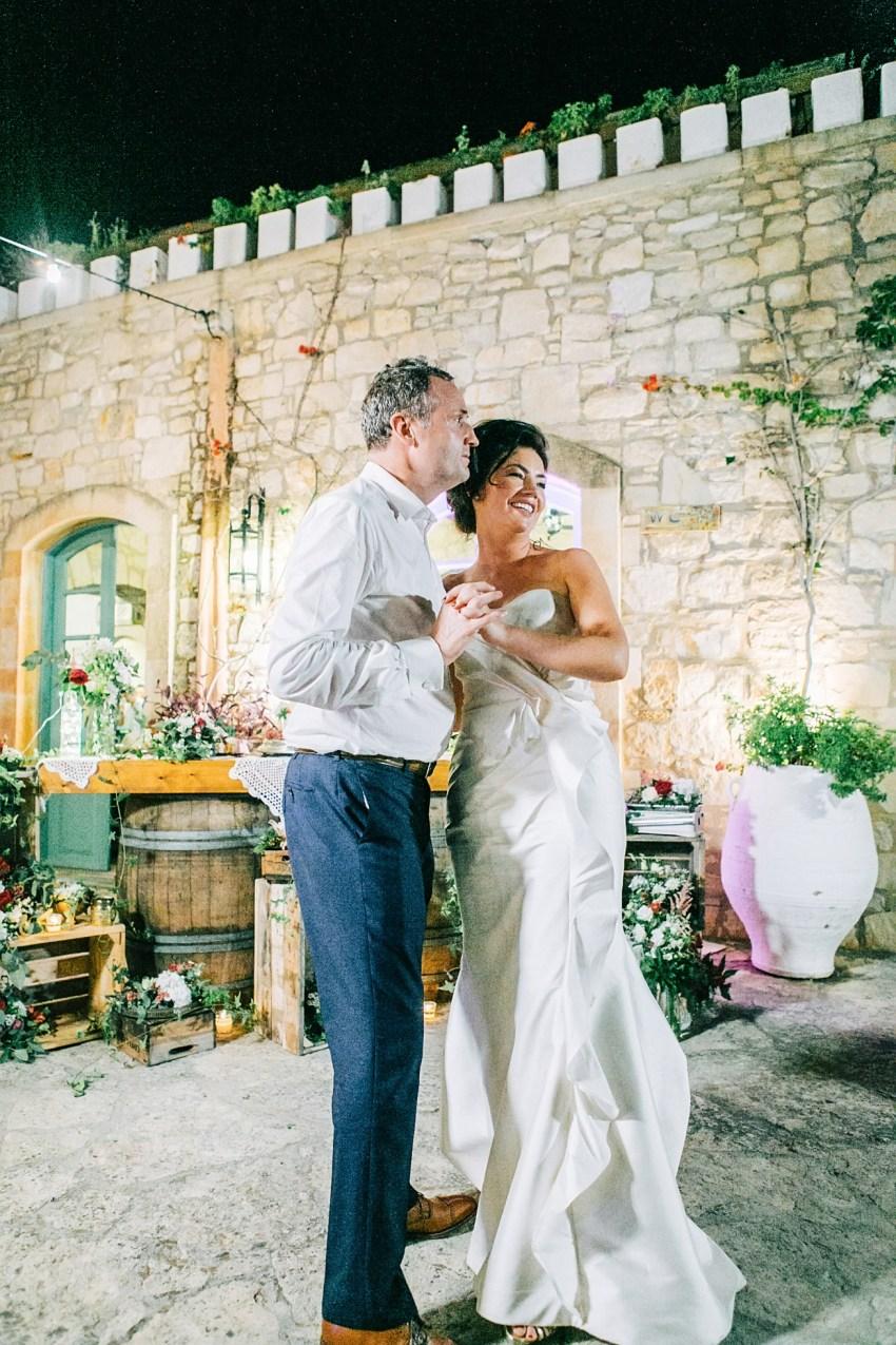 Destination wedding reception party in Agreco Farm, Crete.