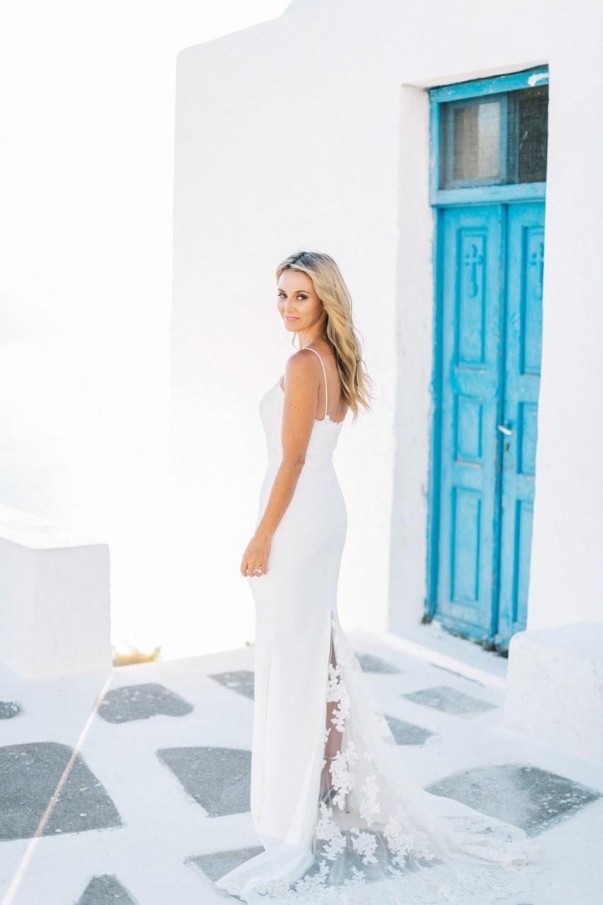 Stunning Santorini bride.