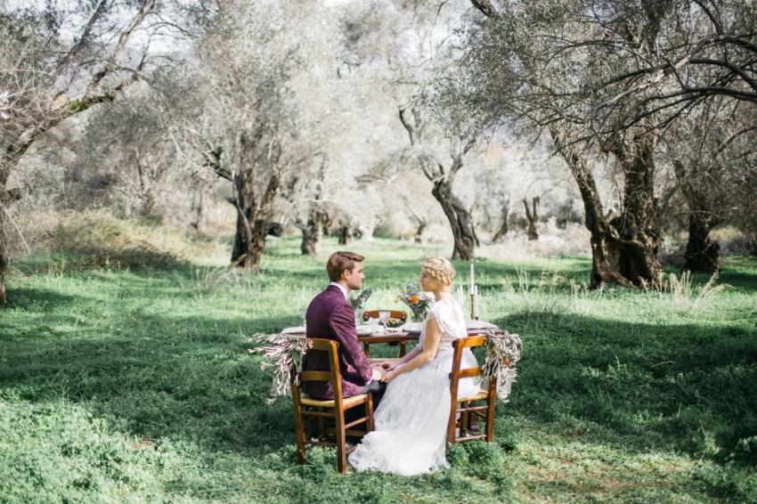 Intimate wedding in Crete
