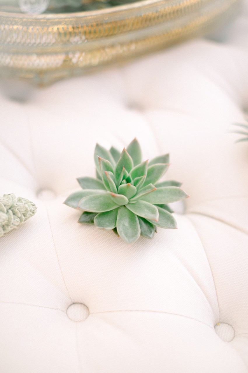 Elegant details of a bridal boudoir inspiration session in Loyal Villas Luxury, Mykonos, Greece.