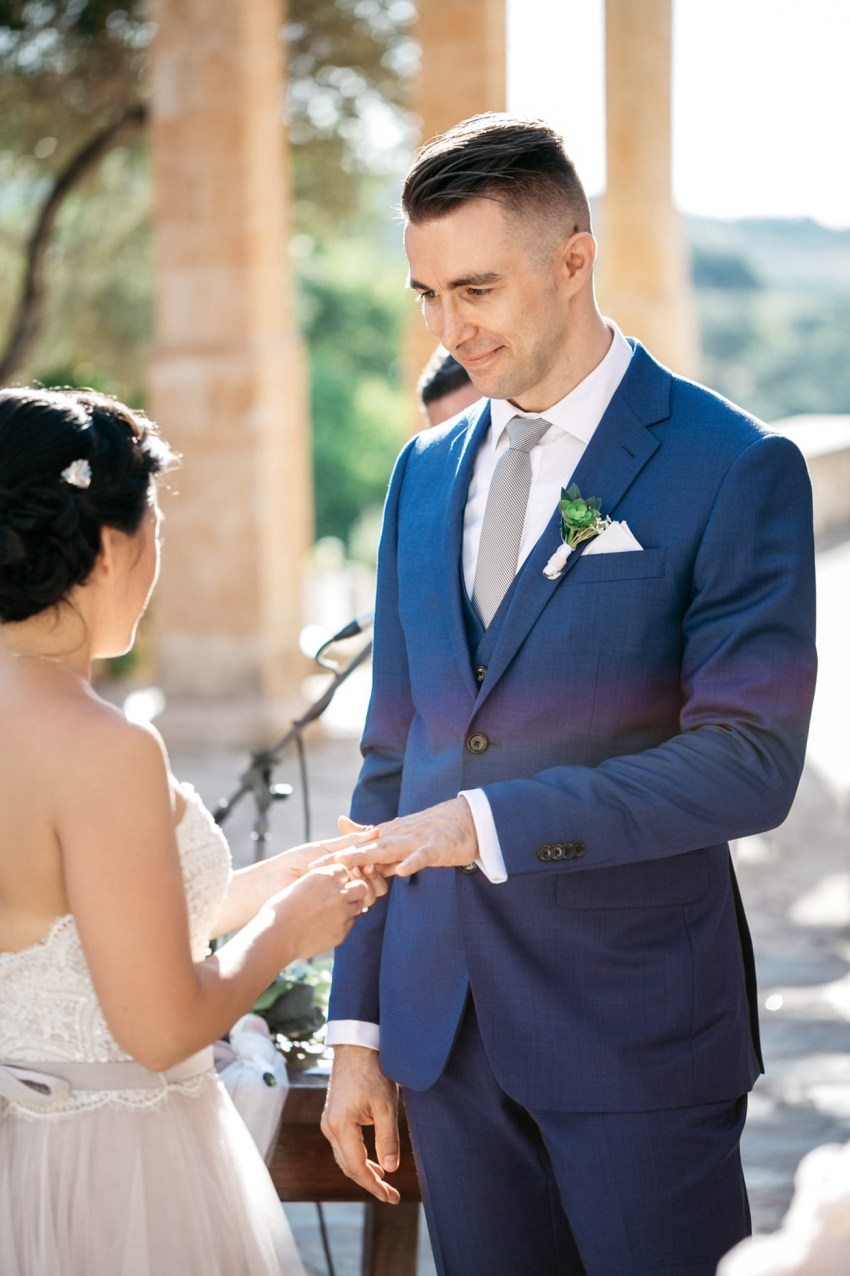 Destination wedding ceremony in Agreco Farms, Grecotel, Crete, Greece.