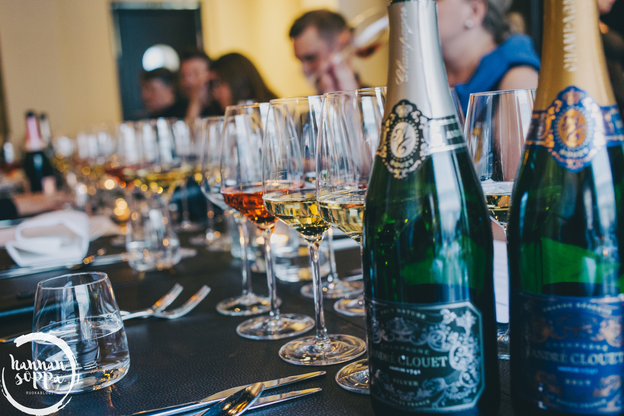 André Clouet champagne tasting / Hannan soppa