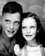 David D. Hanneman and sister Lavonne Marie Hanneman, circa 1942.