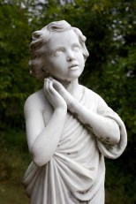 This angel guards a monument to victims of abortion.