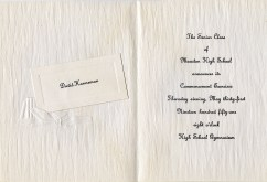 David D. Hanneman was among the Class of 1951 graduates on May 31, 1951.