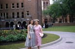 Ruby Hanneman and daughter Lavonne at Viterbo College in the late 1950s.