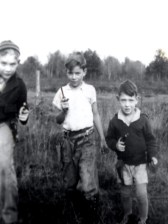 Dad (right) as a gunslinger in Mauston, circa 1938.