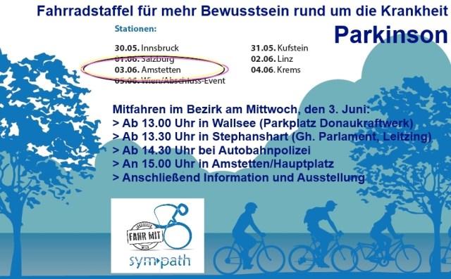 Parkinson-Fahrradstaffel