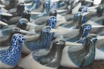 Flock of Birds, pottery, Hanne Westergaard