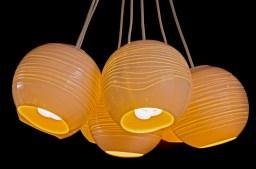 Porcelain ceiling lamps, handmade