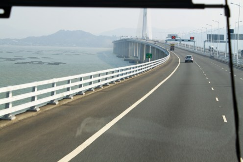 Entering Hong Kong