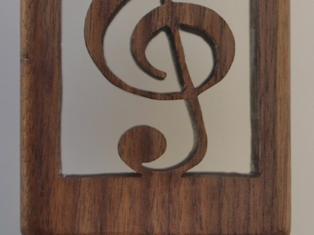 Treble clef music note beer tap handle