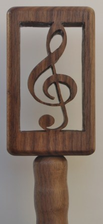 Treble clef beer tap handle